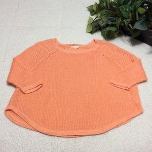 Eileen Fisher Crop 3 Quarter Sleeve Sweater Sz L